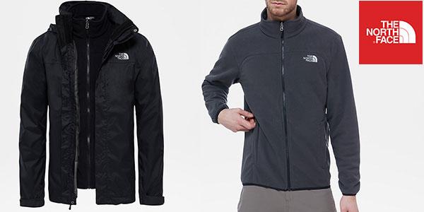 Chaqueta de esquí 3 en 1 The North Face Evolve II Triclimate de color negro para hombre barata