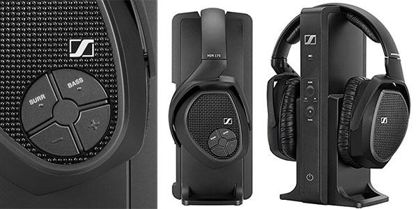 Chollo Auriculares de diadema inalámbricos Sennheiser RS 175 con Dolby