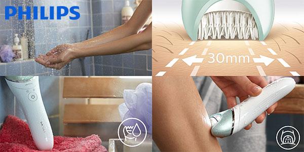 Chollo Depiladora Philips Satinelle Advanced BRE620 Wet&Dry recargable