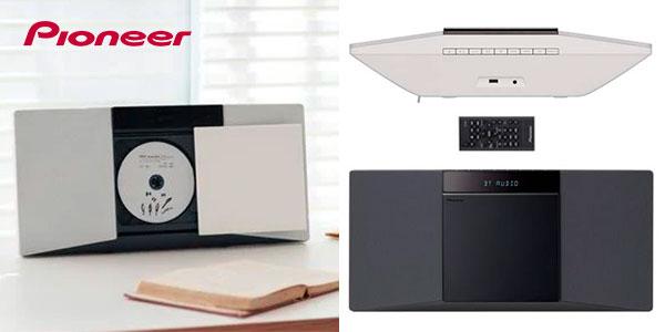 Chollo Microcadena Pioneer X-SMC02 con Bluetooth y radio FM en 2 colores