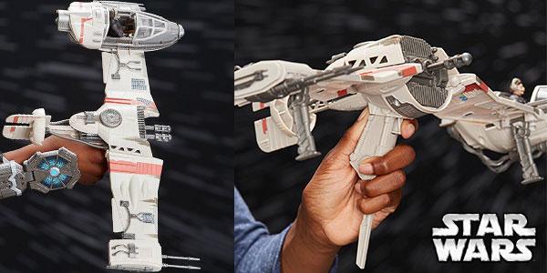 Chollo Nave Resistance Ski Speeder de Star Wars con figura de Poe Dameron de 9,5 cm