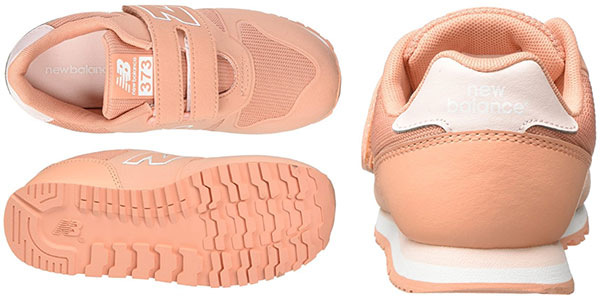 Chollo Zapatillas deportivas infantiles unisex New Balance Ka373 naranja coral