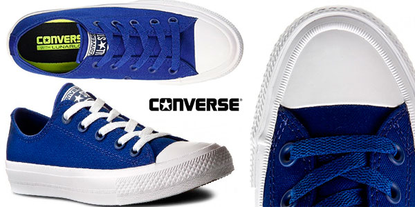 Chollo Zapatillas unisex Converse All Star Chuck Taylor II de color azul para adulto