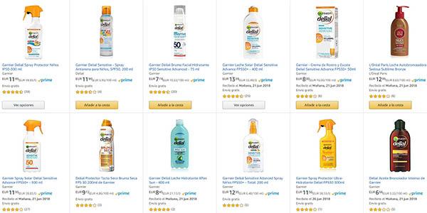 cremas solares en oferta en Amazon