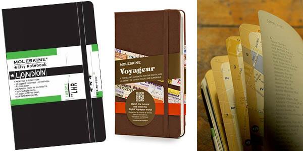 cuadernos Moleskine edición especial viajer@s baratos