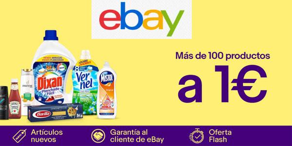 Miniprecios en eBay con productos de supermercado a 1€ por tiempo limitado