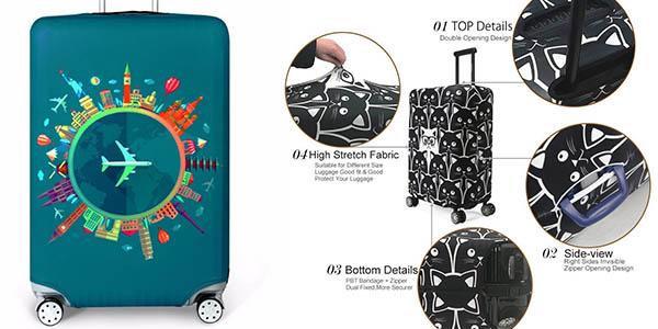 fundas de tela ajustables para proteger las maletas de arañazos a precio de chollo