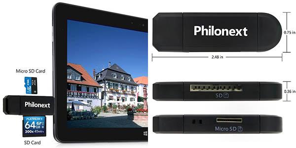 Lector de tarjetas SD/Micro SD Philonex barato