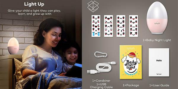 luz LED con forma de ositos para niñ@s fácil de control chollo