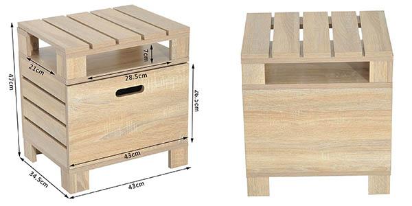 mesa de madera Homcom para almacenaje auxiliar en oferta