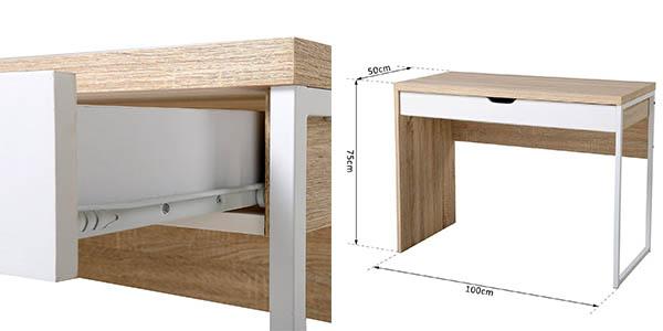 mesa en madera para ordenador y escritorio chollo