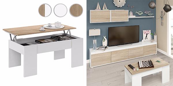 mesa de salón con sobre elevable de gran relación calidad-precio
