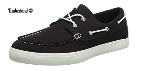 Mocasines TImberland Newport Bay-2 Eye Canvas en color negro baratos en Amazon