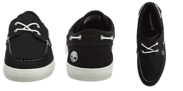 Mocasiones Timberland NEwport Bay 2 eye canvas en color negro baratos en Amazon