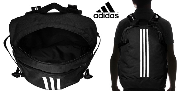 Mochila unisex Adidas BP Power IV en color negro chollazo en Amazon