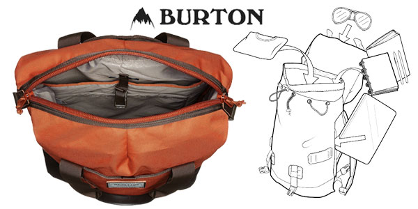 Mochila unisex Burton Tinder Tote en color naranja ochre burnt chollo en Amazon