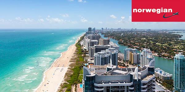 Norwegian nueva ruta Madrid - Miami con billetes de avión baratos