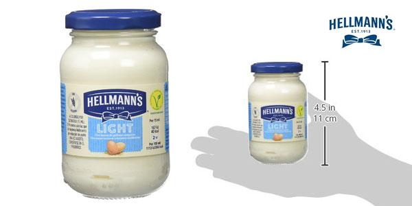 Pack de 12 botes de mayonesa Light Hellmann's (225gr/ud) chollo en Amazon