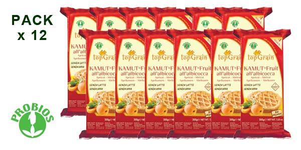 Pack de 12 paquetes Probios Top Grain Tartitas de Trigo Khorasan Kamut con Albaricoque barato en Amazon