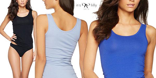 Pack de 2 camisetas de tirantes de algodón Iris & Lilly para mujer baratas en Amazon