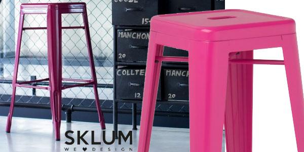Pack de 2 taburetes altosLix de Sklum de diseño industrial retro en muchos colores chollo en eBay