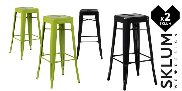 Pack de 2 taburetes altosLix de Sklum de diseño industrial retro en muchos colores baratos en eBay