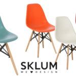 Pack de 4 sillas de diseño retro nórdico X en muchos colores chollo en eBay
