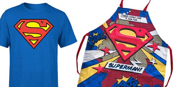pack de camiseta y delantal de Superman ideal regalo para frikies