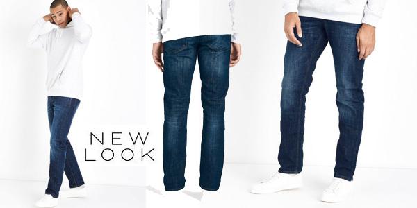 Pantalones vaqueros rectos New Look Reynolds Straight azul navy para hombre baratos en Amazon