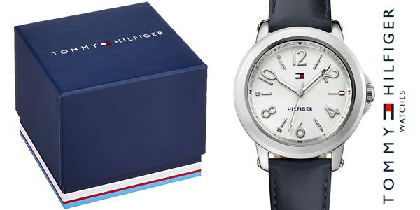 Reloj analógico Tommy Hilfiger 1781753 Ellie con correa de piel en color azul para mujer chollazo en Amazon
