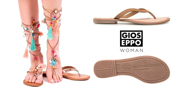 Sandalias esclavas Gioseppo Decore de piel para mujer chollo en eBay