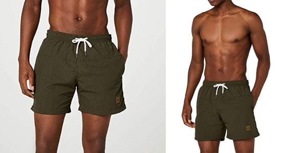 Bañador Urban Classics Block SWim Shorts para hombre barato en Amazon