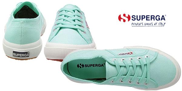 Zapatillas Superga 2750 COTU Classic en color verde para mujer chollo en Amazon