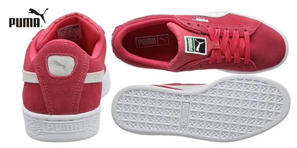 Zapatillas unisex Puma Suede Classic Jr en color rosa chollo en Amazon
