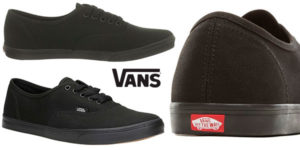 Zapatillas unisex de tipo skate Vans Authentic Lo Pro de color negro baratas
