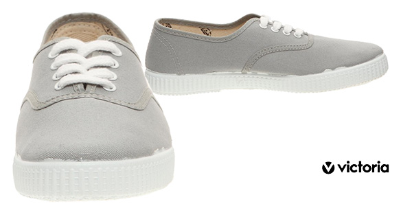 Zapatillas unisex Victoria Inglesa Lona color gris chollazo en Amazon