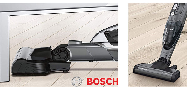 Aspirador escoba Bosch BBH2P214L Readyy'y 2-in-1 de 21.6V en color gris grafito oferta en Amazon
