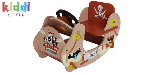 Balancín pirata de madera Rocking Boat Kiddi Style barato en Amazon