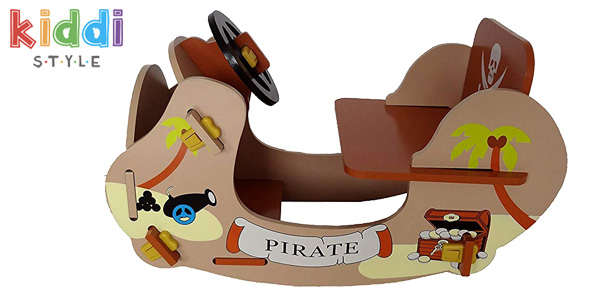 Balancín pirata de madera Rocking Boat Kiddi Style chollo en Amazon