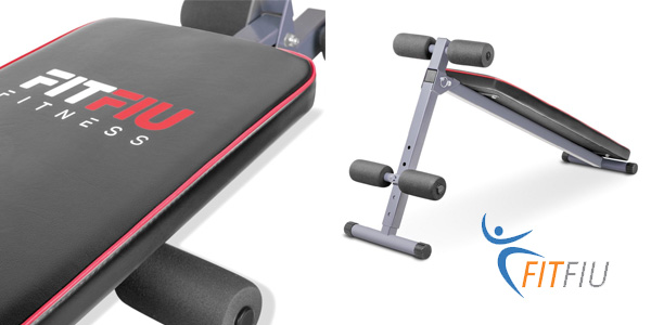 Banco de musculación y abdominales plegable FitFiu Fitness MUB2002A chollo en eBay