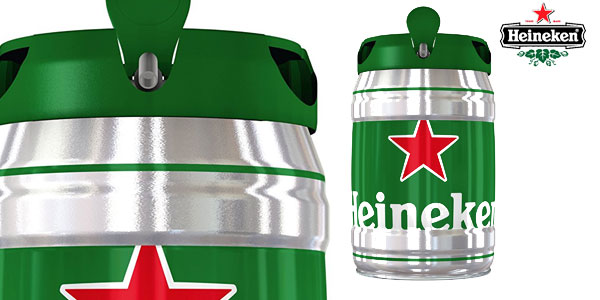 Barril de Cerveza Heineken Cerveza de 5 litros chollo en Amazon