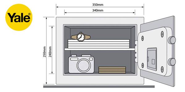 Caja Fuerte electrónica Yale YSV/250/DB1 tamaño mediano chollo en Amazon
