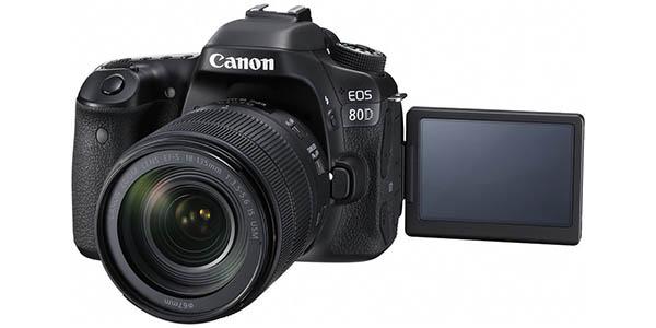 Cámara Canon EOS 80D + objetivo 18-135 mm