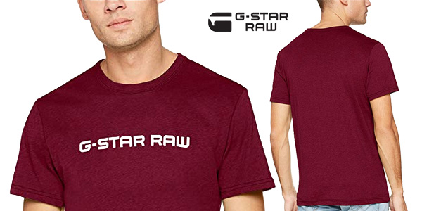Camiseta G-STAR RAW Loaq de manga corta para hombre chollo en Amazon