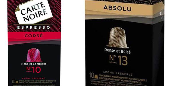 cápsulas de café Carte Noire compatibles con Nespresso gran cantidad de unidades a precio de chollo