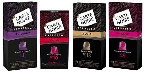 Carte Noire cápsulas de café compatibles con Nespresso baratas