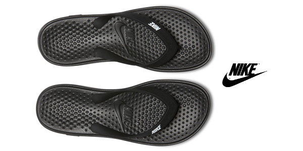 Chollo Chanclas Nike Solay en color negro para hombre por ...