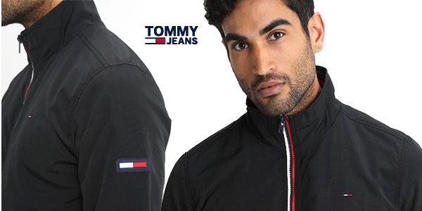 Tommy Jeans Chaqueta Basic Casual Bomber 22 en color negro para Hombre chollo en Amazon