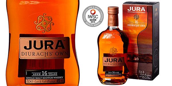 Chollo Botella de whisky de malta escocés Jura Diurachs' Own de 16 años (700 ml)