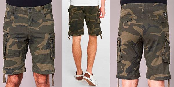 Chollo Pantalones cortos Jack & Jones Cargo con estampado de camuflaje para hombre